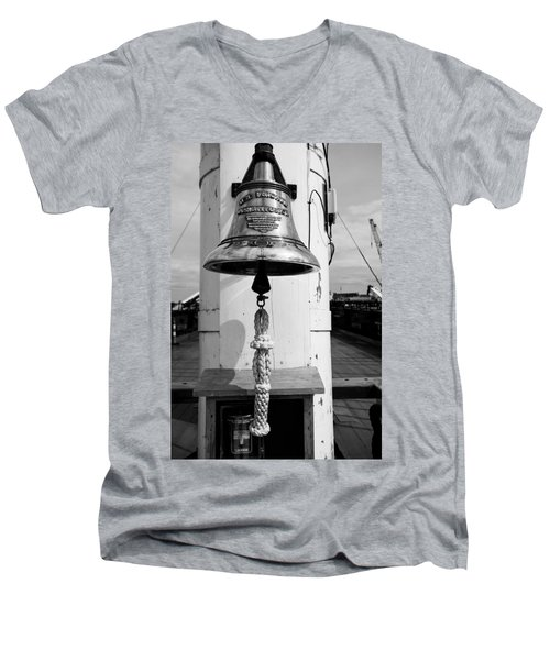 Ships Bell Uss Constitution Men's V-Neck T-Shirt