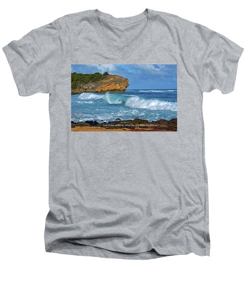 Shipwreck Beach Shorebreaks 2 Men's V-Neck T-Shirt by Marie Hicks