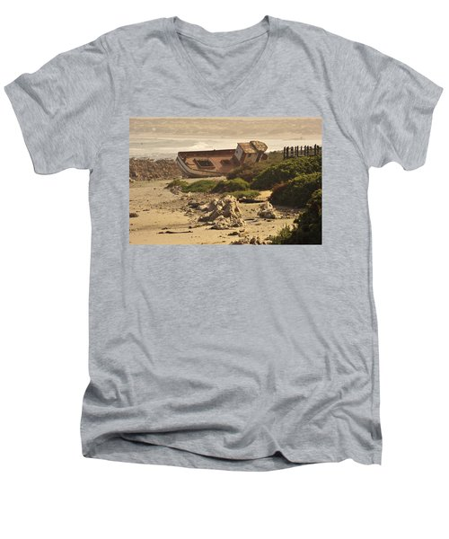 Shipwrecked Men's V-Neck T-Shirt by Patrick Kain