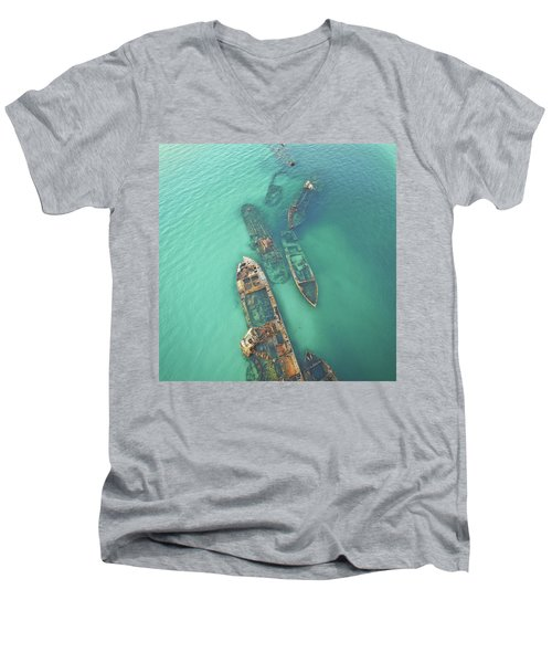 Shipwrecks Men's V-Neck T-Shirt