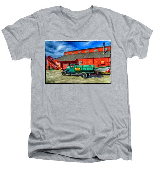Shipyard Work Truck Men's V-Neck T-Shirt