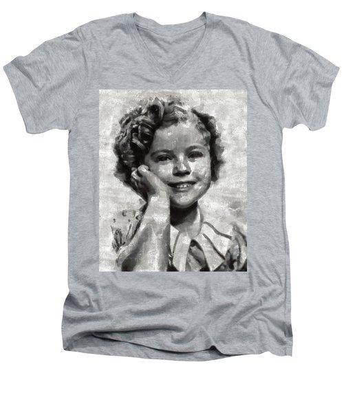 Shirley Temple By Mary Bassett Men's V-Neck T-Shirt by Mary Bassett