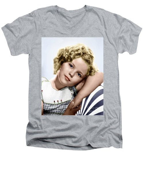 Shirley Temple Men's V-Neck T-Shirt by Granger