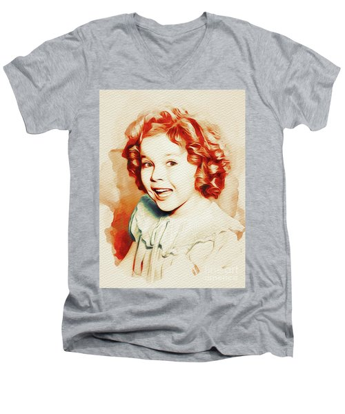 Shirley Temple, Movie Star Men's V-Neck T-Shirt