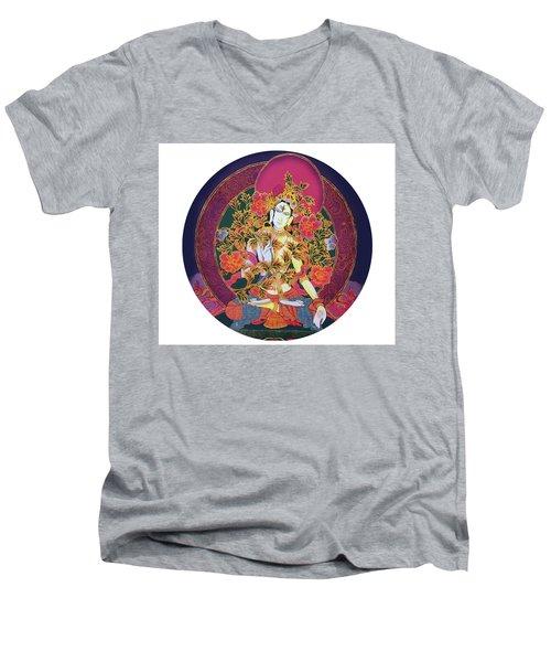 Shiva Shakti Yin And Yang Men's V-Neck T-Shirt