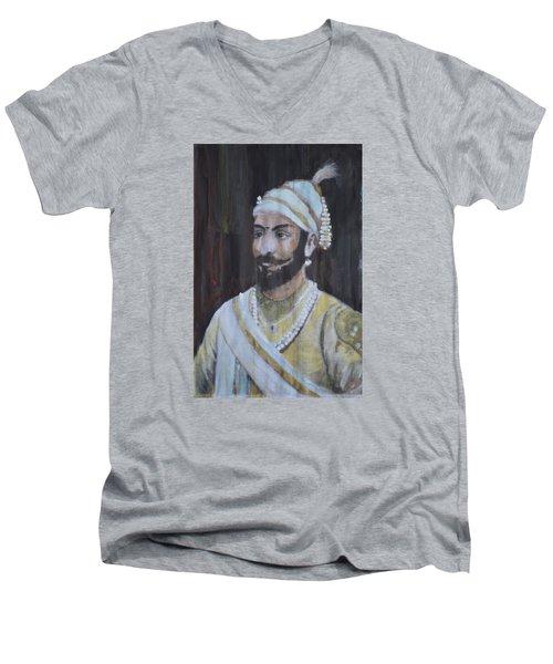 Shivaji Maharaj Men's V-Neck T-Shirt by Vikram Singh
