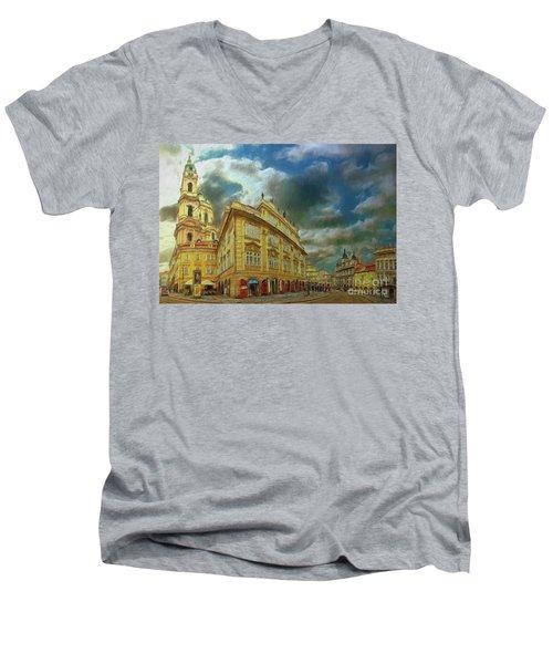 Shooting Round The Corner - Prague Men's V-Neck T-Shirt