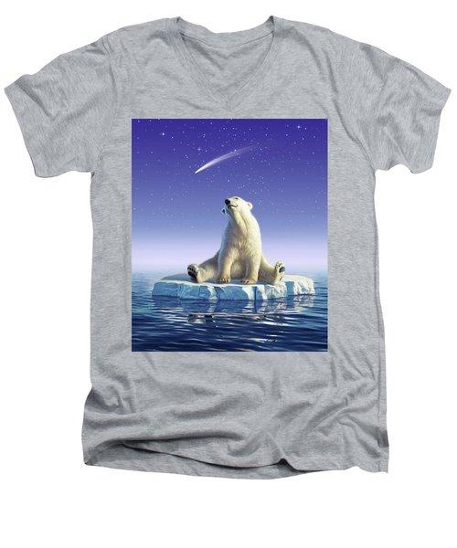 Shooting Star Men's V-Neck T-Shirt