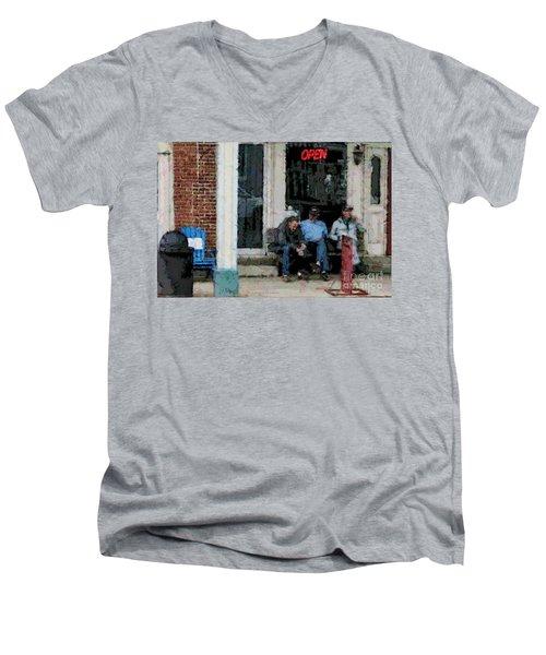 Shooting The Breeze Men's V-Neck T-Shirt