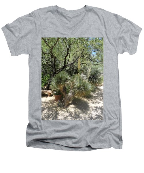 Shooting Up Cactus Garden Men's V-Neck T-Shirt