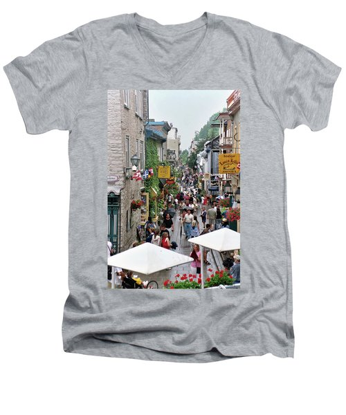 Men's V-Neck T-Shirt featuring the photograph Shop Till One Drops by John Schneider