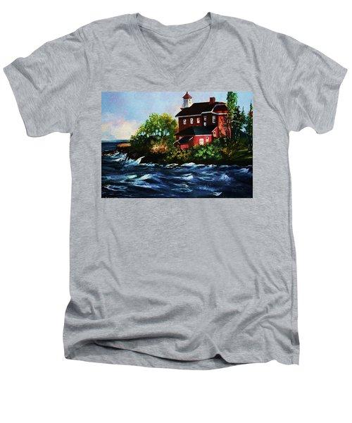 Shoreline Light Men's V-Neck T-Shirt