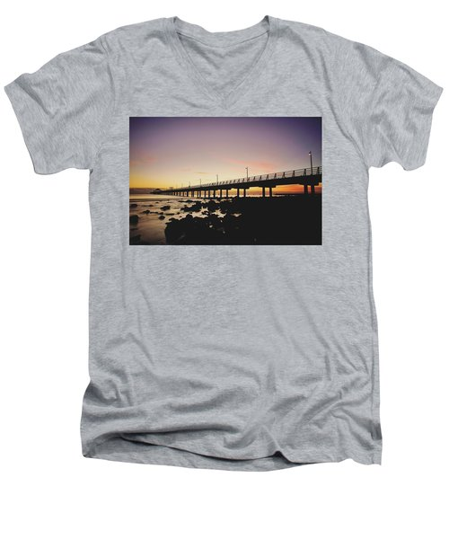 Shorncliffe Pier At Dawn Men's V-Neck T-Shirt