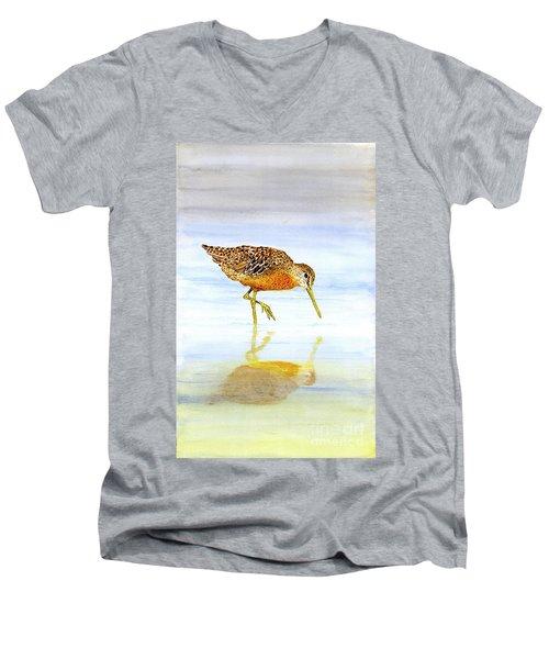 Short-billed Dowitcher Men's V-Neck T-Shirt