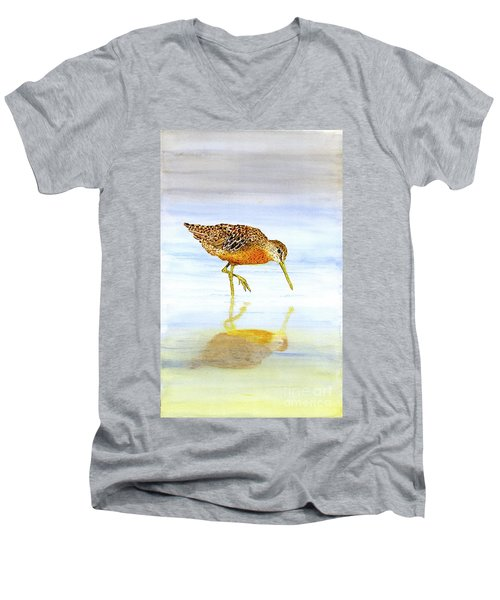 Short-billed Dowitcher Men's V-Neck T-Shirt