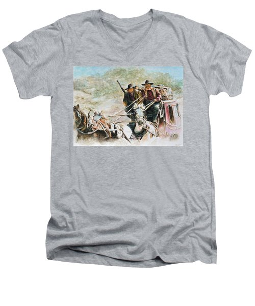 Shot Gun Men's V-Neck T-Shirt by Traci Goebel