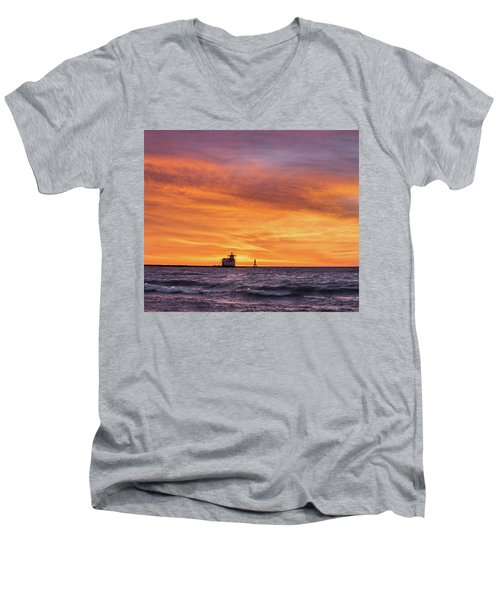 Men's V-Neck T-Shirt featuring the photograph Should Have Been There by Bill Pevlor