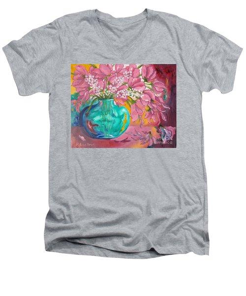 Shower Of Pink Men's V-Neck T-Shirt
