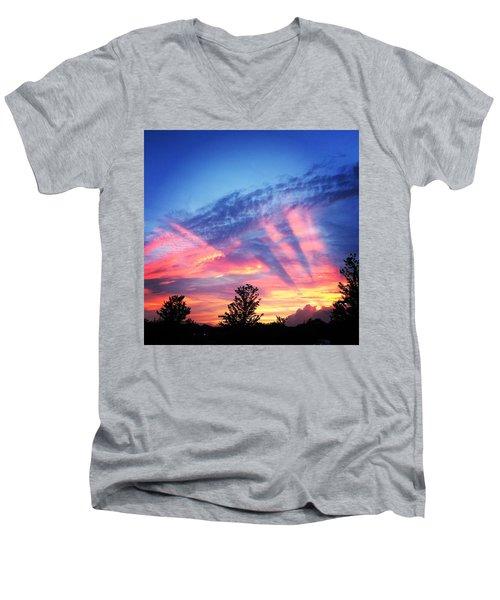 Showtime Sunset Men's V-Neck T-Shirt