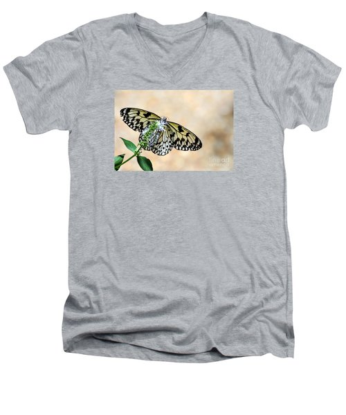 Showy Nymph Men's V-Neck T-Shirt by Debbie Green