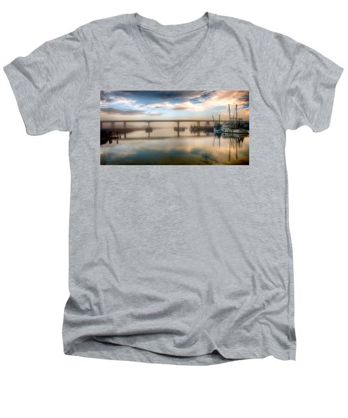 Shrimp Boats At Sunrise Men's V-Neck T-Shirt
