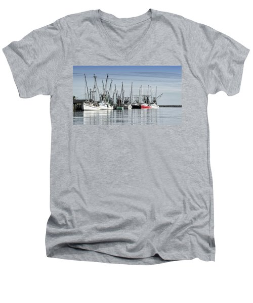 Shrimper's Day Is Done Men's V-Neck T-Shirt