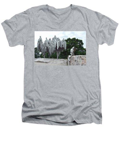 Sibelius Monument Men's V-Neck T-Shirt