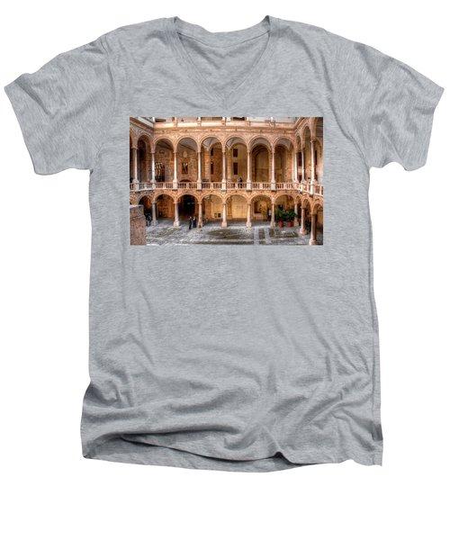 Sicilian Parliament Bldg Men's V-Neck T-Shirt by Patrick Boening