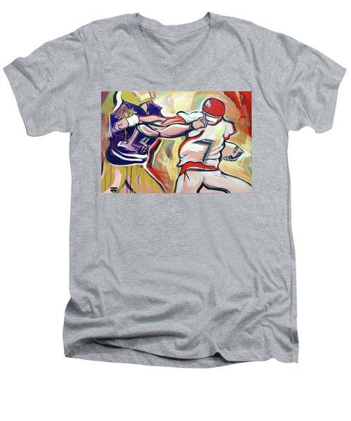 Side Arm Uga Men's V-Neck T-Shirt