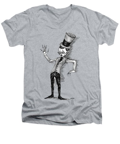 Side Show Performer Men's V-Neck T-Shirt by Akiko Okabe