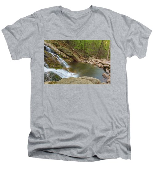 Side Slide Into The Pool Men's V-Neck T-Shirt by Angelo Marcialis