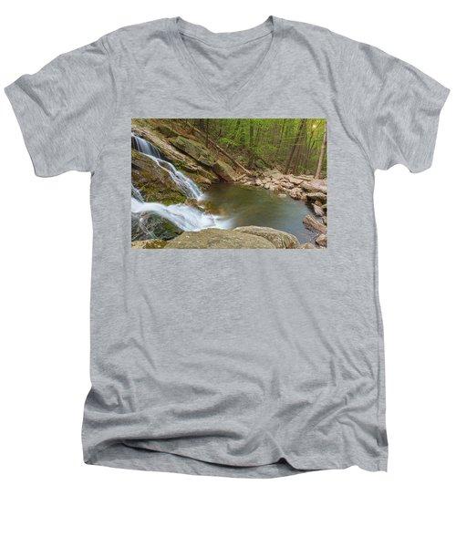 Side Slide Into The Pool Men's V-Neck T-Shirt