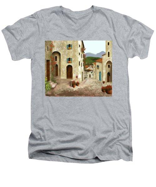 side streets of Tuscany Men's V-Neck T-Shirt