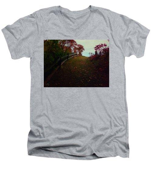 Siena In The Fall Men's V-Neck T-Shirt