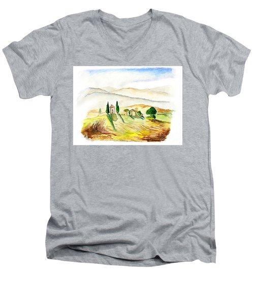 Siena. Italy Men's V-Neck T-Shirt