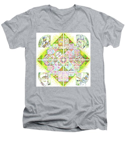 Sierpinski's Baseball Diamond Men's V-Neck T-Shirt