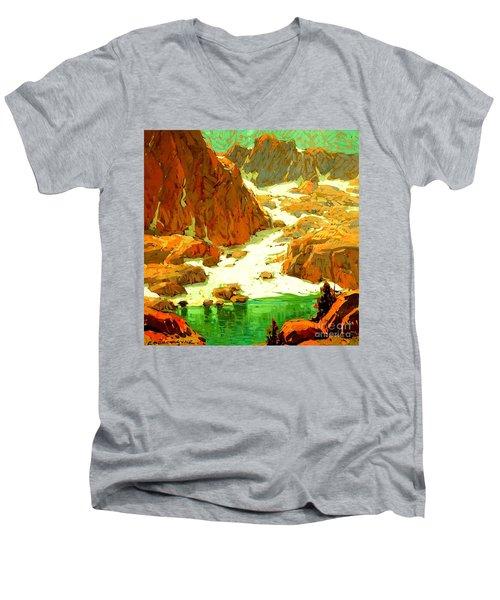 Sierra Landscape Circa 1920 Men's V-Neck T-Shirt