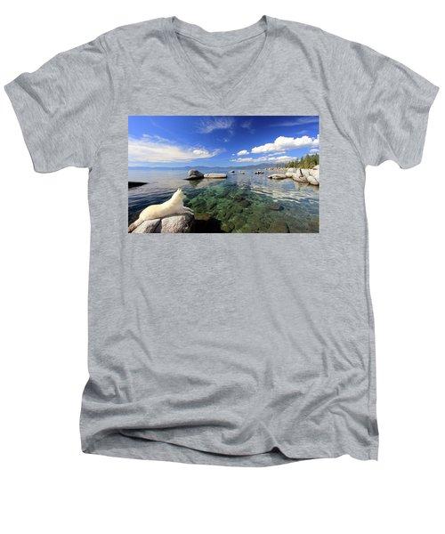 Sierra Sphinx Men's V-Neck T-Shirt