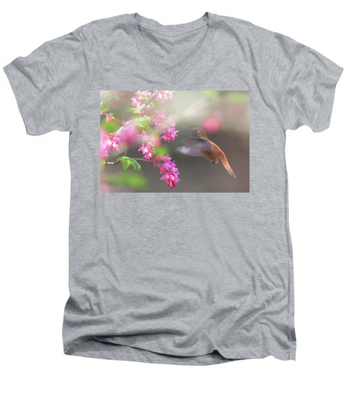 Sign Of Spring 2 Men's V-Neck T-Shirt by Randy Hall