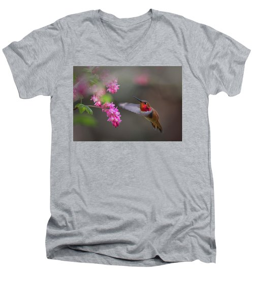 Sign Of Spring Men's V-Neck T-Shirt by Randy Hall