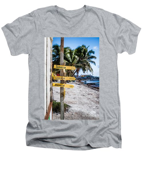 Signs Men's V-Neck T-Shirt by Lawrence Burry