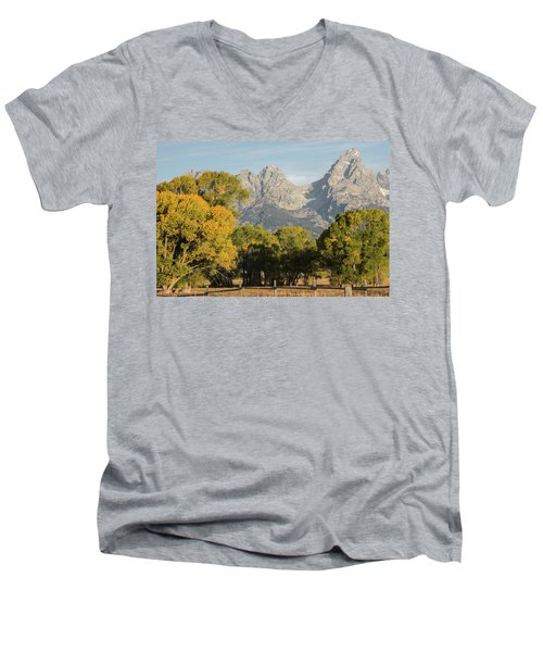 Men's V-Neck T-Shirt featuring the photograph Signs Of Autum by Colleen Coccia