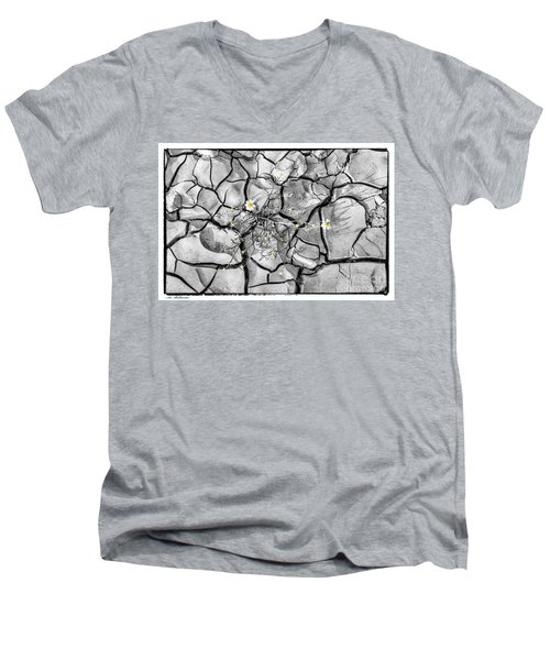 Signs Of Life Men's V-Neck T-Shirt by Arik Baltinester