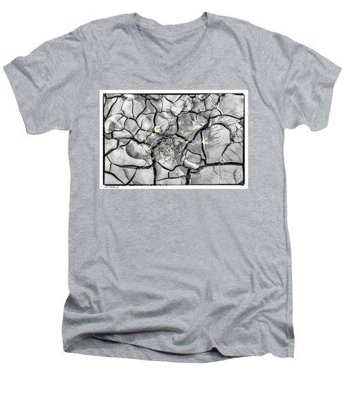 Signs Of Life Men's V-Neck T-Shirt by Arik Baltinester