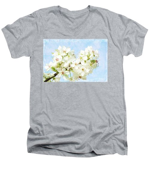 Signs Of Spring Men's V-Neck T-Shirt by Inspirational Photo Creations Audrey Woods