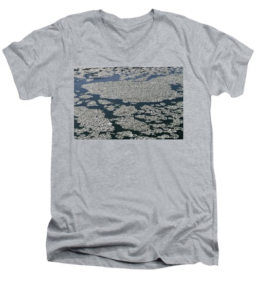 Signs Of Winter Men's V-Neck T-Shirt by Rhonda McDougall