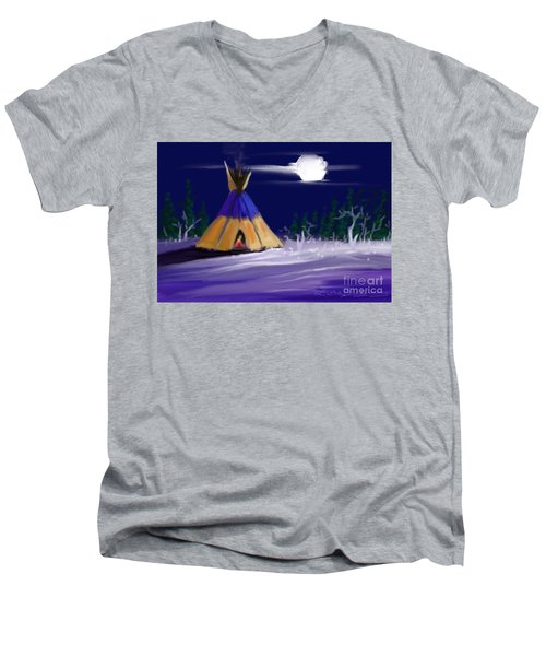 Silence In The Moonlight Men's V-Neck T-Shirt