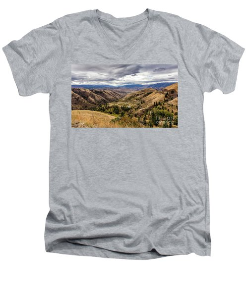 Silence Of Whitebird Canyon Idaho Journey Landscape Photography By Kaylyn Franks  Men's V-Neck T-Shirt