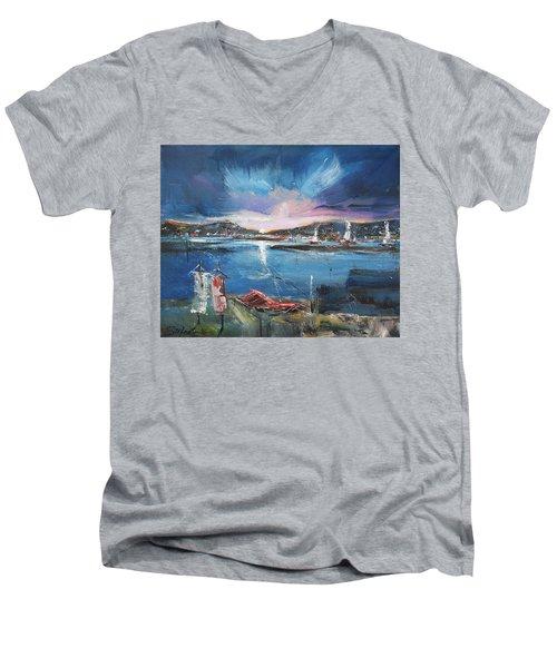 Silent Evening IIi Men's V-Neck T-Shirt