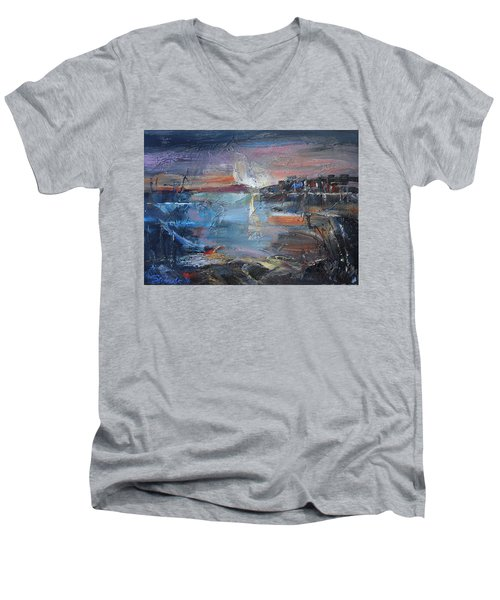 Silent Evening  Men's V-Neck T-Shirt